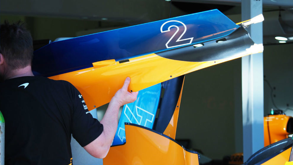 Así es la nueva tapa del motor de McLaren para Australia.