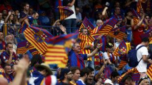 La afición del Barça en la final del año pasado.