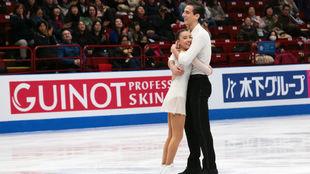 Laura Barquero y Aritz Maestu, tras su actuación