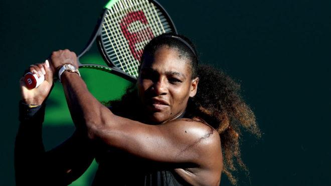 Serena Williams, durante el encuentro ante Osaka