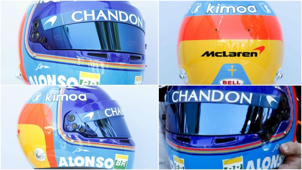 El casco de Fernando Alonso.
