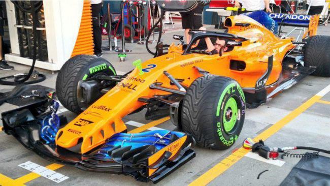 El McLaren MCL33, en Melbourne.