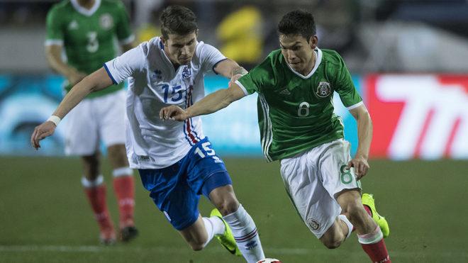 Imagen de enfrentamiento de la selección mexicana contra islandia en...