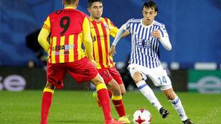 Rubén Pardo (25), en la Copa contra el Lleida.