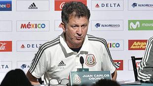 Juan Carlos Osorio, en conferencia de prensa