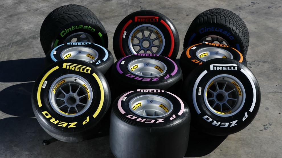 Gama de neumáticos Pirelli para la F1