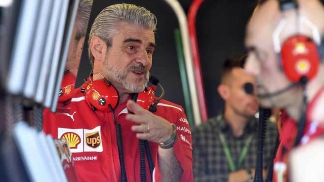 Maurizio Arrivabene, director de equipo de Ferrari.