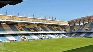 Vista del estadio de Riazor.
