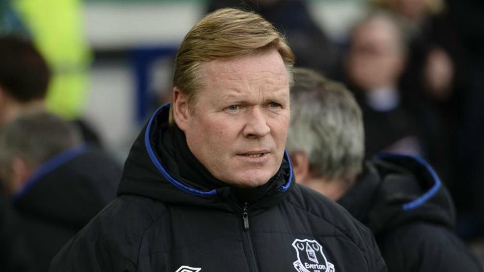 Ronald Koeman, en su etapa en el Everton