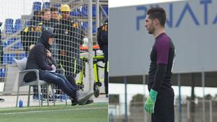 Zidane viendo a su hijo Luca en Pinatar