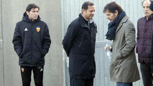 Marcelino, Marthy, Alemany y Voro, en Paterna.