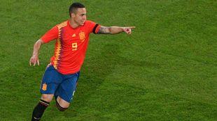 Rodrigo celebra su gol ante Alemania