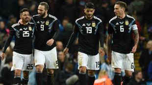 Argentina celebra el gol de la victoria