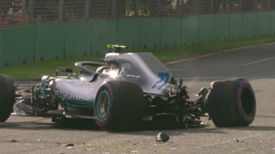 W09 de Bottas, tras su accidente en la Q3