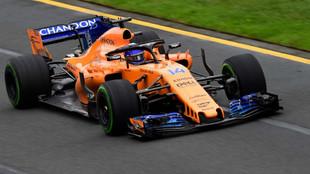 Fernando Alonso, durante los libres 3, previos a la calificación