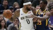 DeMarcus Cousins durante un partido con los New Orleans Pelicans