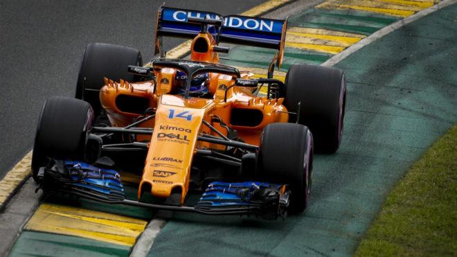Fernando Alonso, en Albert Park.