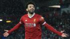 Salah celebra un gol esta temporada