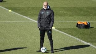 Zinedine Zidane, durante un entrenamiento.