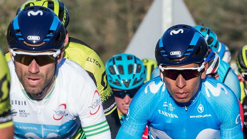 Alejandro Valverde y Nairo Quintana continuarán rodando juntos en...