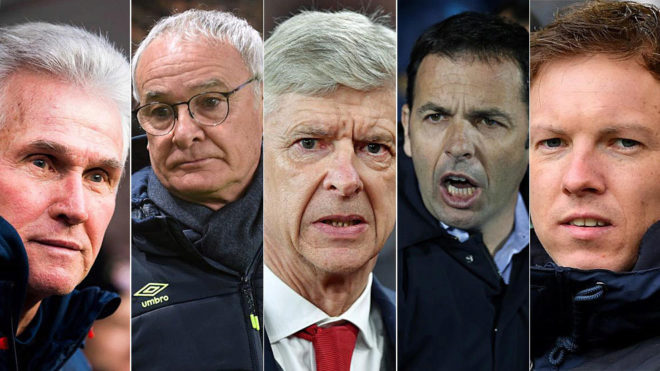 The age of the 98 coaches in the five big leagues: Is Wenger right?