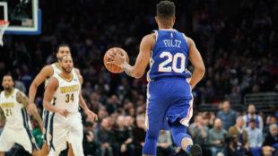 Markelle Fultz dirigiendo el ataque de los Philadelphia 76ers