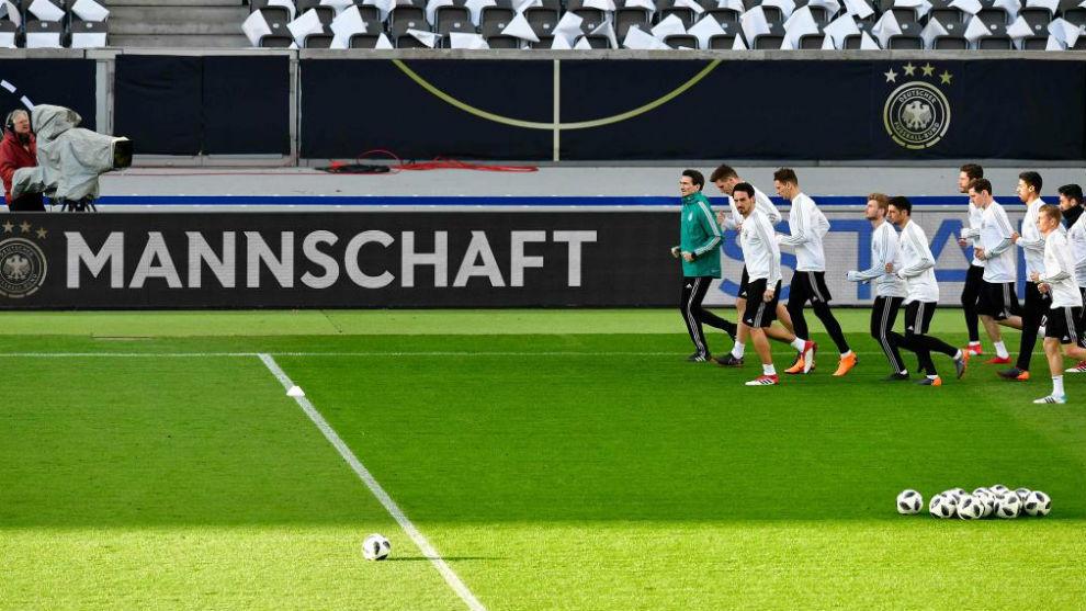 Entrenamiento de Alemania previo al partido