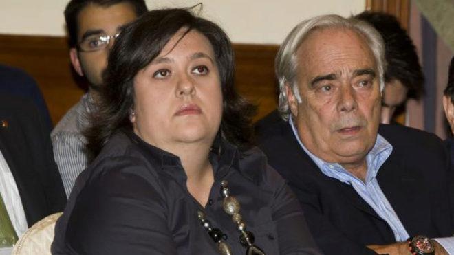María Elena Fort, junto a Albert Perrín en una foto de archivo.
