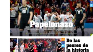 El diario Olé y su crítica a la selección argentina