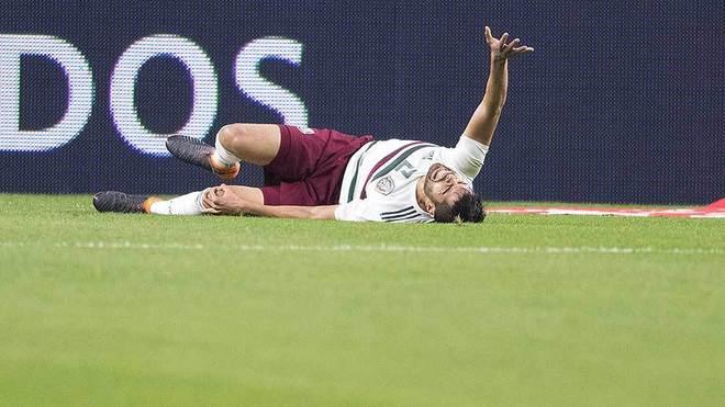 Néstor Araujo, lesionado en el partido ante Croacia