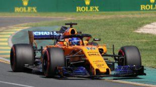 Fernando Alonso, con un juego de superblandos durante los...