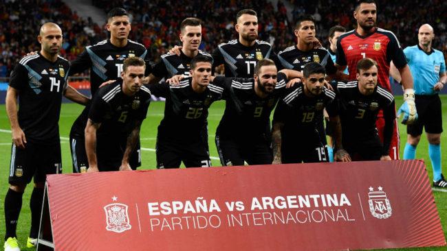 El once argentino ante España.
