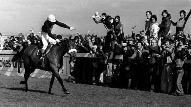 Red Rum tras ganar el Grand National.