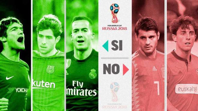 Los 23 de la afición: Marcos Alonso, Sergi Roberto y Lucas Vázquez, al Mundial; Morata, fuera de la lista 15222699629276