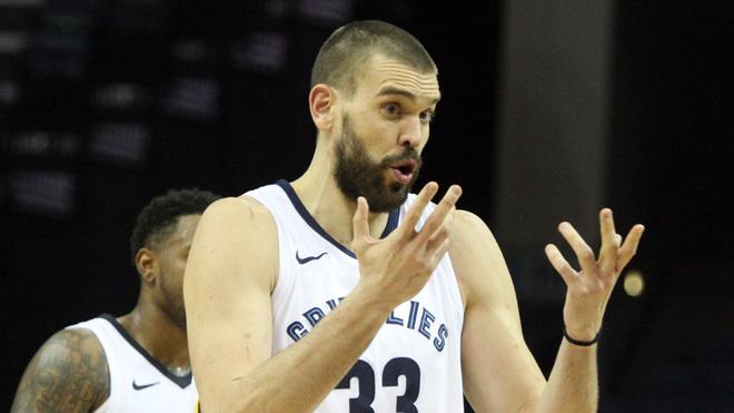 Marc Gasol jugando con los Memphis Grizzlies