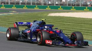 Pierre Gasly, con el Toro Rosso