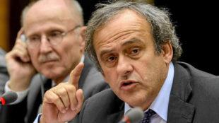 Michel Platini, durante una rueda de prensa.
