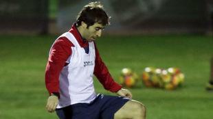 Flamini durante un entrenamiento con el Getafe.