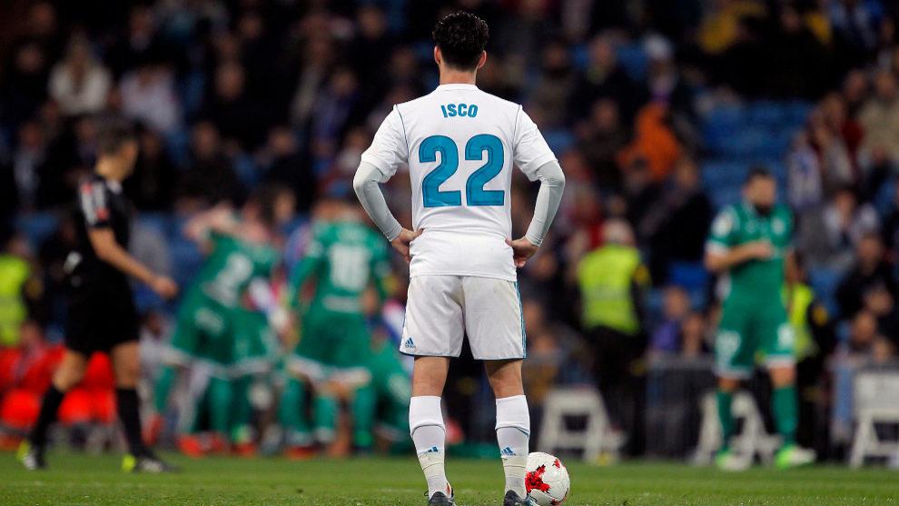 Isco durante un partido con el Real Madrid
