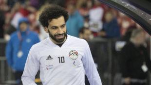 Salah, en un partido reciente con Egipto