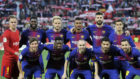 El once del Barça en el Pizjuán