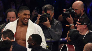 Anthony Joshua, tras derrotar a Joseph Parker.
