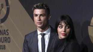 Cristiano y Georigina en un acto en Portugal