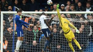 Morata, en la acción del gol al Tottenham.