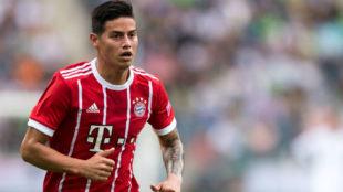 James Rodríguez, con la camiseta del Bayern.