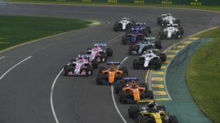 Monoplazas durante el GP de Australia