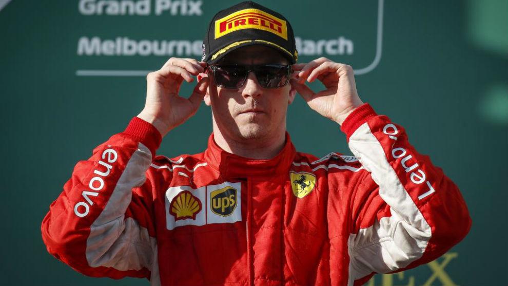 Raikkonen, en el podio del pasado GP de Australia