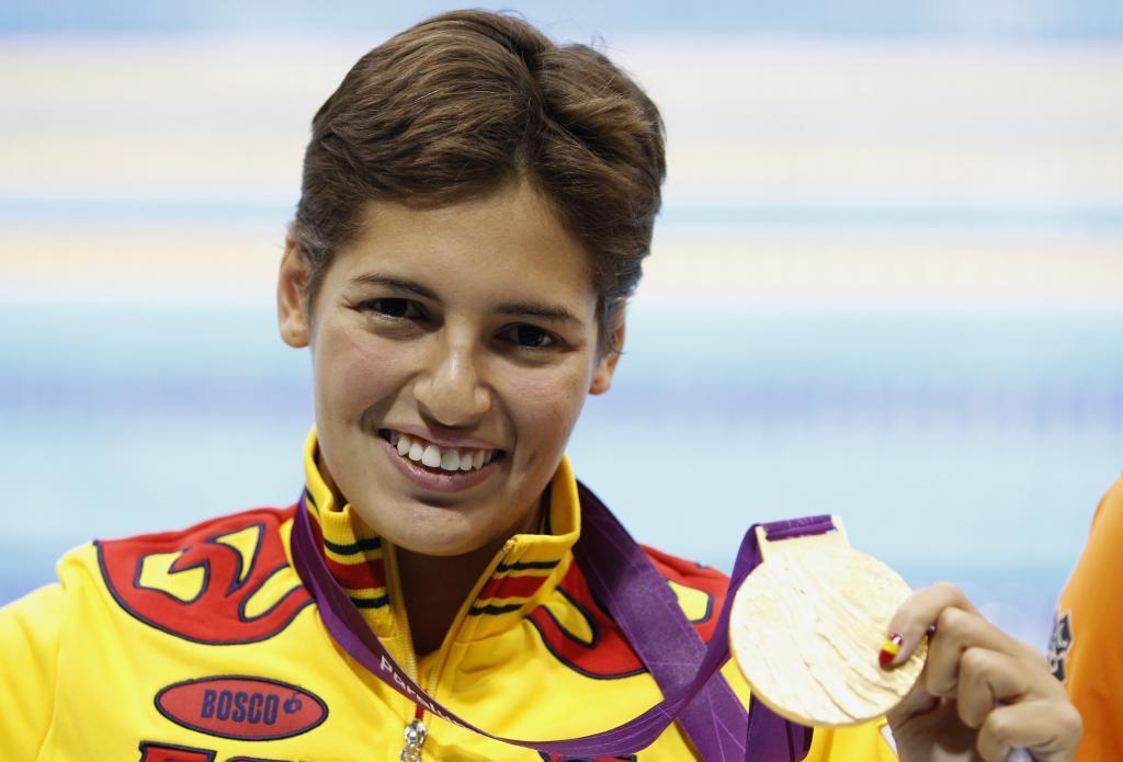 Michell Alonso con su oro en 100 braza en los Juegos Paralímpicos de...