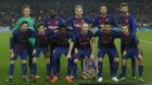 La alineación del Barcelona el día del 3-0 contra el Chelsea.