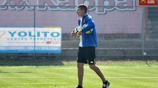 Martín Palermo durante un entrenamiento.